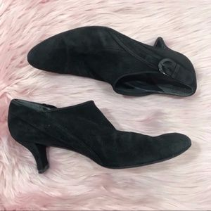 Stuart Weitzman Black Suede Leather Ankle Bootie 8